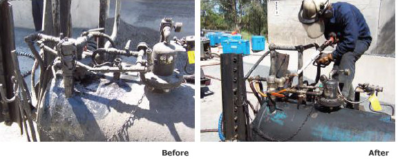 Oil Field Cleaning Before & After